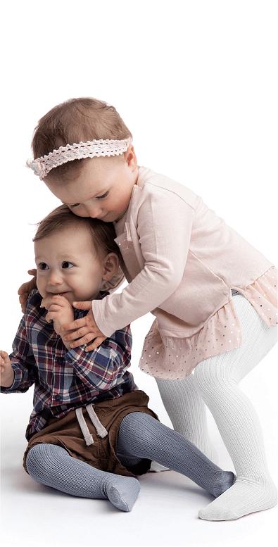 Rajstopy niemowlęce z wiskozy PUCHATKI