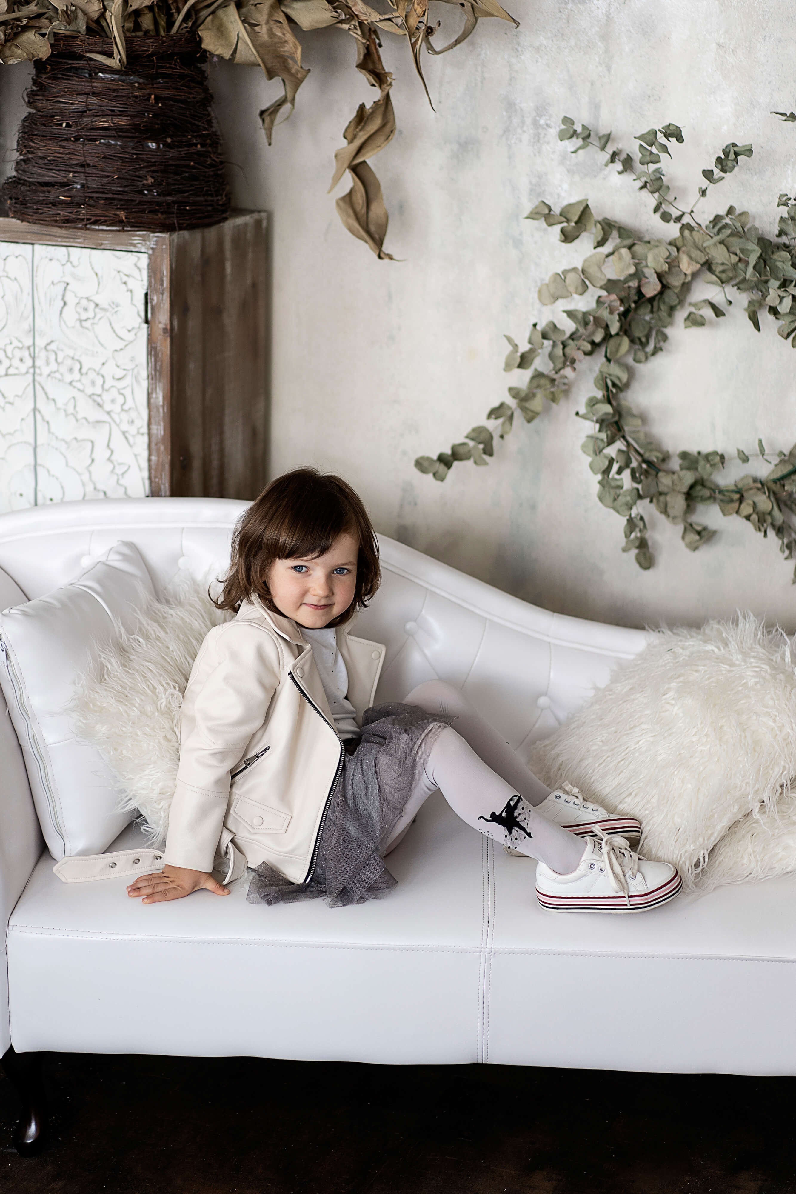 Rajstopy dla dzieci białe - NOQ